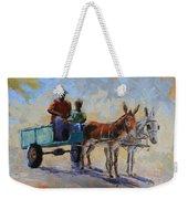 Blue Cart Weekender Tote Bag