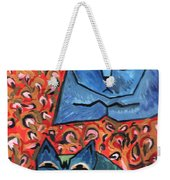 Blue Cats Weekender Tote Bag
