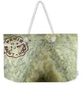 Blue Cheese Wheel Weekender Tote Bag