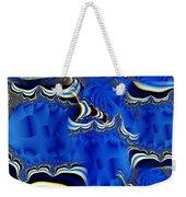 Blue Chifon Weekender Tote Bag