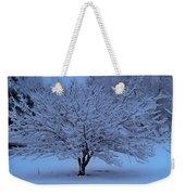 Blue Christmas Weekender Tote Bag