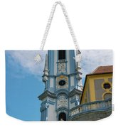 Blue Church Tower In Durnstein Weekender Tote Bag