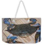 Blue Claw Crab Weekender Tote Bag