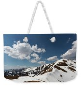 Blue Cloudy Sky Over Spring Tatra Mountains, Poland, Europe Weekender Tote Bag