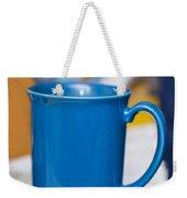 Blue Coffee Cup Weekender Tote Bag
