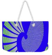 Blue Colored Metal Panel Tempe Center For The Arts Abstract Weekender Tote Bag