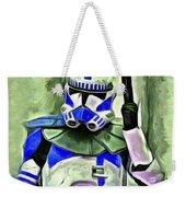 Blue Commander Stormtrooper At Work - Pa Weekender Tote Bag
