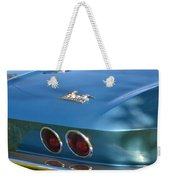 Blue Corvette Stingray Weekender Tote Bag