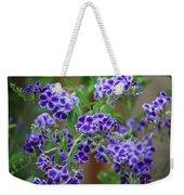 Blue Cottage Flowers Weekender Tote Bag