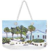 Blue Cottage On Siesta Key Beach, Access 3 Weekender Tote Bag