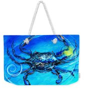 Blue Crab Abstract Weekender Tote Bag