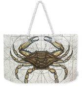 Blue Crab Weekender Tote Bag by Charles Harden