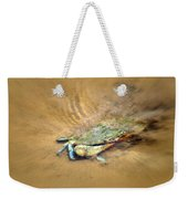 Blue Crab Hiding In The Sand Weekender Tote Bag