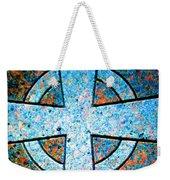 Blue Marbled Cross Weekender Tote Bag