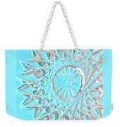 Blue Crystal Snowflake Weekender Tote Bag