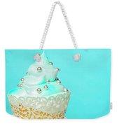 Blue Cupcake Weekender Tote Bag