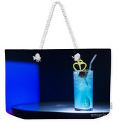 Blue Curacao Cocktail Drink With Cherry Weekender Tote Bag