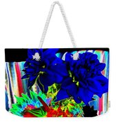 Blue Dahlias Weekender Tote Bag