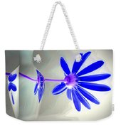 Blue Daisy Delight Weekender Tote Bag