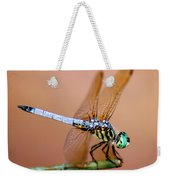 Blue Dasher Dragonfly Weekender Tote Bag