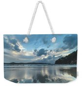 Blue Dawn Seascape With Cloud Reflections Weekender Tote Bag