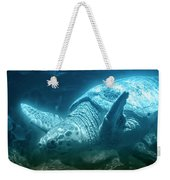 Blue Depths Sea Turtle Weekender Tote Bag