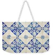 Blue Diamond Flower Tiles Weekender Tote Bag