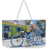 Blue Dog Matlacha Island Florida Weekender Tote Bag