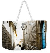 Blue Door In Cusco Weekender Tote Bag by Darcy Michaelchuk