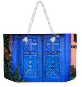 Blue Door In Old Town Weekender Tote Bag