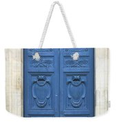 Blue Door In Paris Weekender Tote Bag