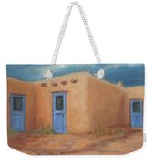 Blue Doors In Taos Weekender Tote Bag by Jerry McElroy