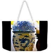 Blue Dragon And Hydrangeas Weekender Tote Bag
