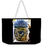 Blue Dragon And Hydrangeas Weekender Tote Bag