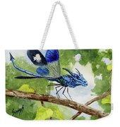 Blue Dragonfly Weekender Tote Bag by Sam Sidders