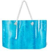 Blue Drip Weekender Tote Bag