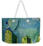 Blue Elephant Weekender Tote Bag