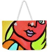 Blue Eyed Blonde Weekender Tote Bag