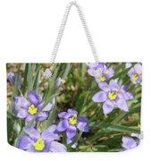 Blue Eyed Grass Weekender Tote Bag