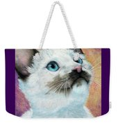 Blue Eyed Prayer Weekender Tote Bag