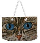 Blue Eyed Tiger Cat Weekender Tote Bag