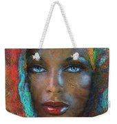 Blue Eyes Dark Oriental Weekender Tote Bag