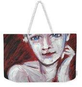 Blue Eyes - Portrait Of A Woman Weekender Tote Bag
