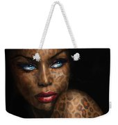 Blue Eyes Wild 3 Weekender Tote Bag