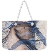 Blue Fabric Weekender Tote Bag