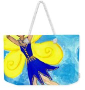 Blue Fairy Detail Of Duck Meets Fairy Ballet Class Weekender Tote Bag