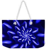 Blue Fantasy Floral Weekender Tote Bag