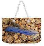 Blue Feather Weekender Tote Bag