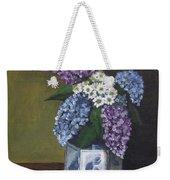 Blue Fish Vase Weekender Tote Bag