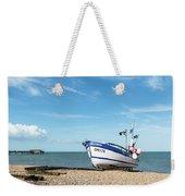 Blue Fishing Boat Weekender Tote Bag